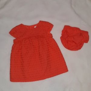 Orange dress set formal 3 months